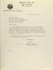 Correspondence from the University of Puerto Rico