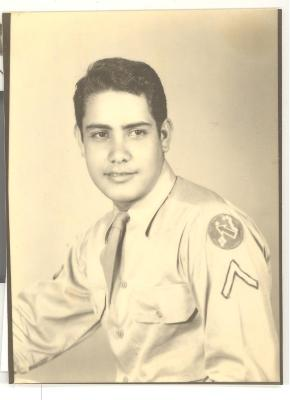 Richard Caravalho in World War II service uniform