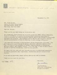 Correspondence from Pratt Institute