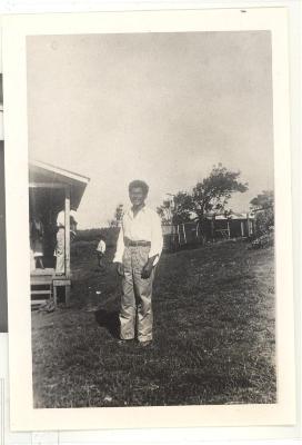 Man in a Hawaiian sugar cane plantation