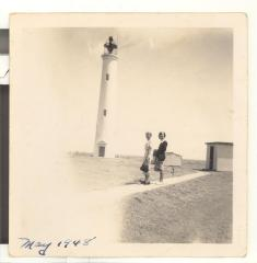 Two women and a lighthouse