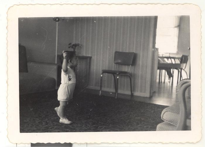 Bernard Camacho dancing with one hand on hip