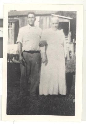 Man and woman in a Hawaiian sugar cane plantation