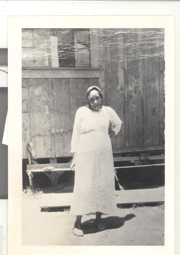 Woman in a Hawaiian sugar cane plantation