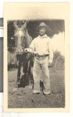 Caravalho man and a horse