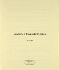 Academy of Independent Scholars
