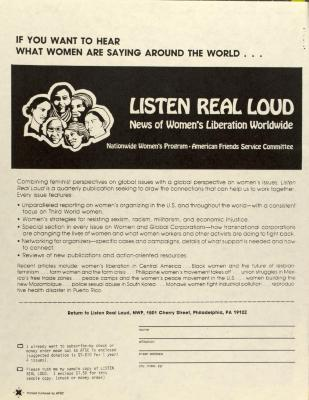 Listen Real Loud: News of Women's Liberation Worldwide