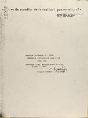 Addendum to Proposal RT - 20207 - Historical Statistics of Puerto Rico: 1900-1980