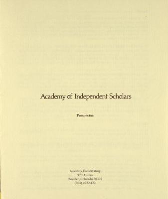 Academy of Independent Scholars