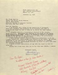 Correspondence from Herbert B. Rogers