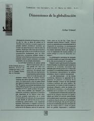 Dimensiones de la globalización / Dimensions of Globalization