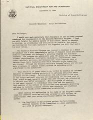 Correspondence from the National Endowment for the Humanities