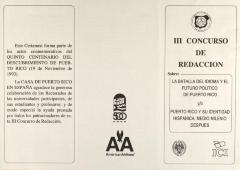 Concurso de Redacción / Writing Contest