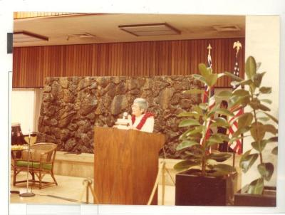 "Blase Camacho speaking at the ""Diaspora Reception"""
