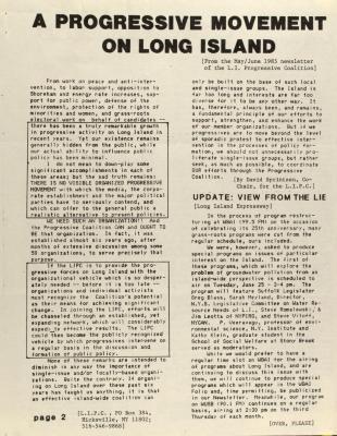 A Progressive Movement on Long Island