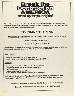 Break the Contract on America - Stand Up for Your Rights!