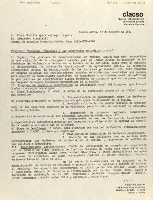 """Programa: """"Sociedad, Violencia, y Paz Democrática en América Latina"""" / Society, Violence, and Democratic Peace in Latin America"""
