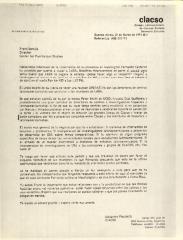 Correspondence from Alejandro Piscitelli of Consejo Latinoamericano de Ciencias Sociales (CLASCO)