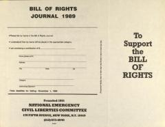 Bill of Rights Journal 1989