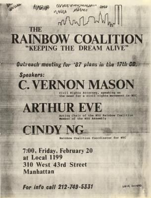 "The Rainbow Coalition - ""Keeping the Dream Alive"""