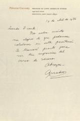 Correspondence from Princeton University