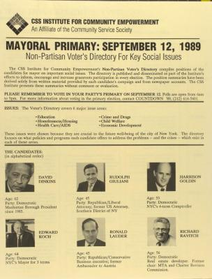 Mayoral Primary: September 12, 1989