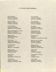 CU Faculty Hosts/Facilitators