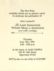 The Last Innocent White Man in America and Other Writings