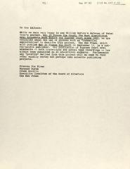 Correspondence from Frank Bonilla, et. al