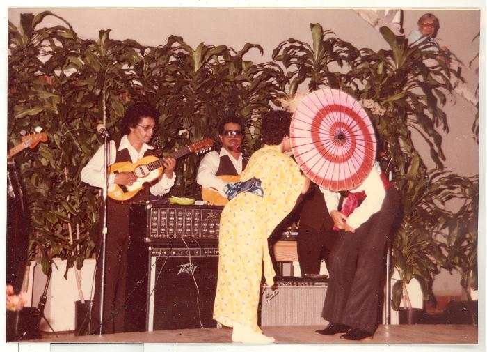 Dance group during opening of Boricua Hawaiiana exhibit