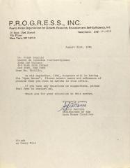 Correspondence from PROGRESS, Inc.