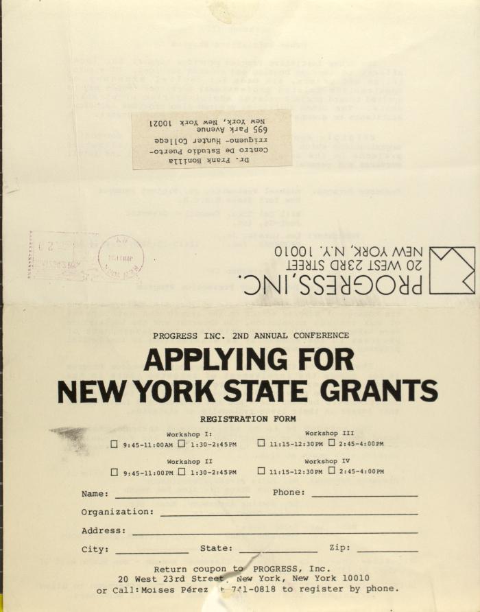 Applying For New York State Grants
