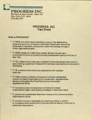PROGRESS, Inc. - Fact Sheet