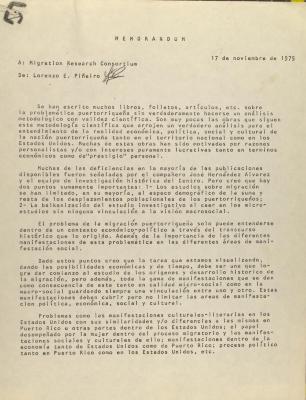 Correspondence from Morgan E. Piñeiro