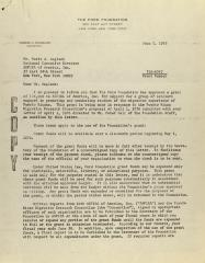 Correspondence from the Ford Foundation