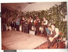 Music group playing during the opening of the Boricua Hawaiiana exhibit