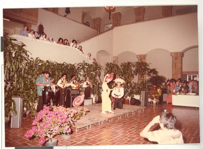 Puerto Rican dance group during opening of Boricua Hawaiiana exhibit