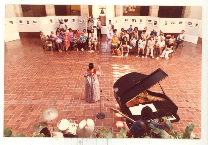 Music group performing at Boricua Hawaiiana opening reception