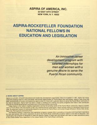 ASPIRA-Rockefeller Foundation National Fellows in Education and Legislation