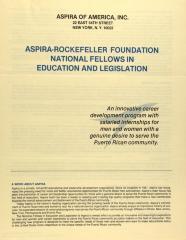 ASPIRA-Rockefeller Foundation National Fellows in Education and Legislation