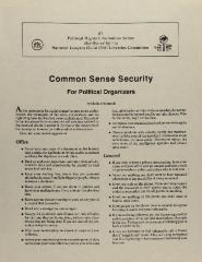 Common Sense Security for Political Organizers