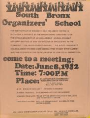 South Bronx Organizers' School