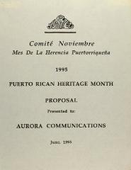 Puerto Rican Heritage Month Proposal