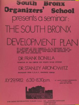 The South Bronx Development Plan