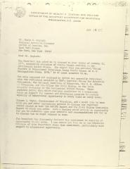 Correspondence from the United States Department Of Health, Education, And Welfare