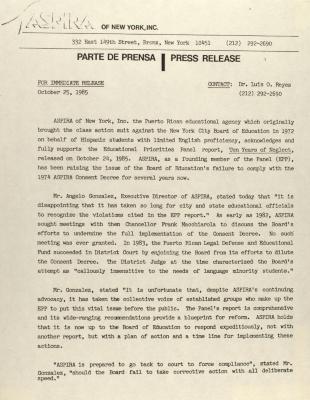 ASPIRA - Press Release