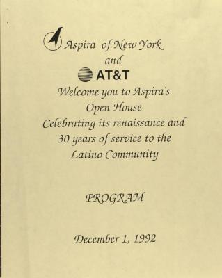 ASPIRA Open House - Program