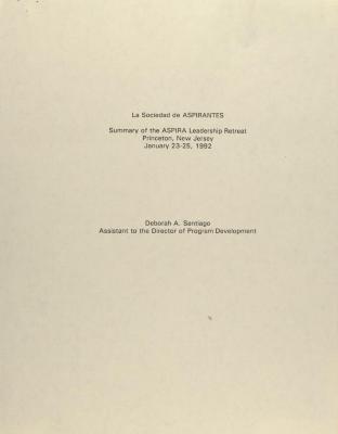 La Sociedad de ASPIRANTES - Summary of the ASPIRA Leadership Retreat