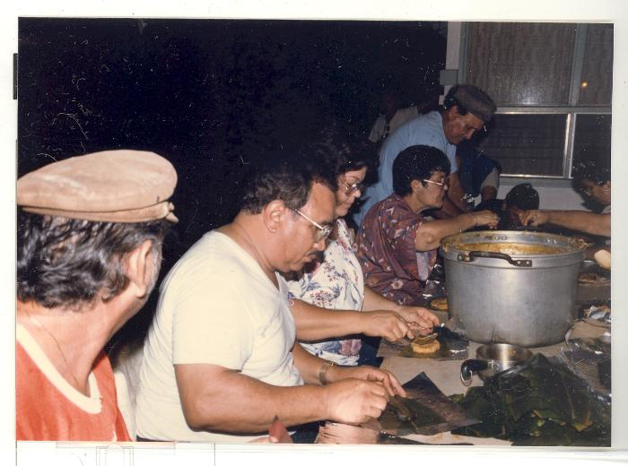 Making pasteles at the residence of Tony Diaz