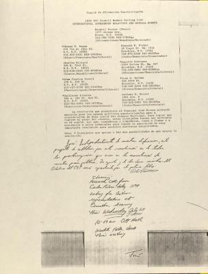 Comité de Afirmación Puertorriqueña - 1992 NYC Council Member Mailing List